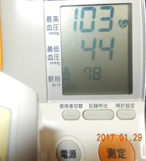 血圧85⇒44⇒63