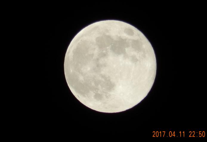 満月が見えた!