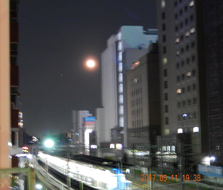 今日(5/11)は満月